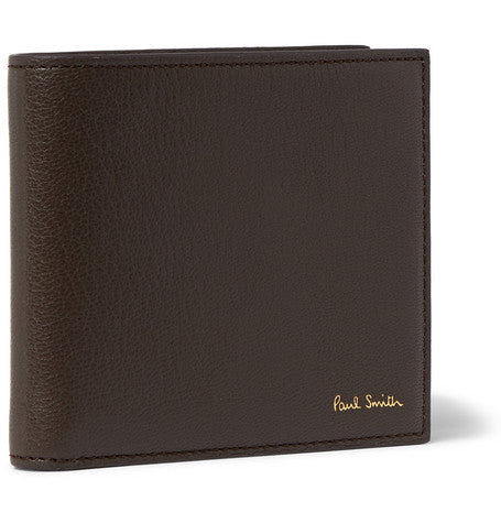 Paul Smith Accessories | Dark Brown Leather Billfold Wallet With Coin Wallet -  Bloomsbury Store - 1
