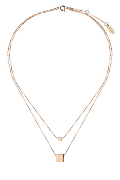 Orelia Necklace Gold | Square Double Row Short Pale Gold -  Bloomsbury Store