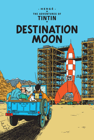 The Adventures of Tintin Book | Destination Moon -  Bloomsbury Store