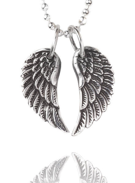 Silver Service Necklace | Tiny Silver Wings -  Bloomsbury Store - 1