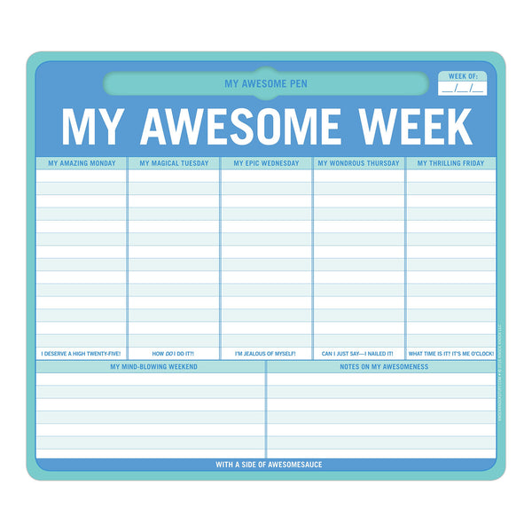 My Awesome Week Pen-to-Paper Mousepad | Knock Knock  | Bloomsbury Store