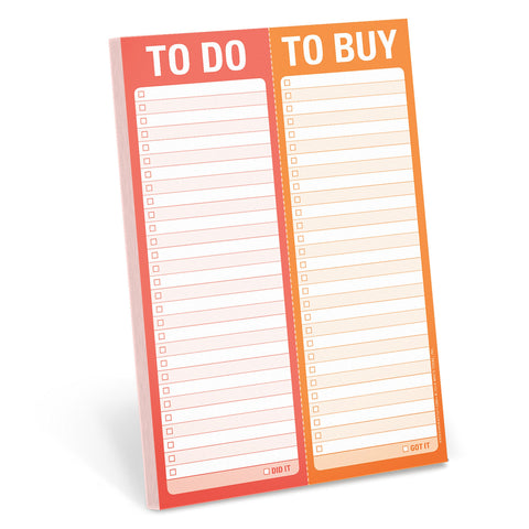 To Do/To Buy Perforated Notepad | Knock Knock  | Bloomsbury Store