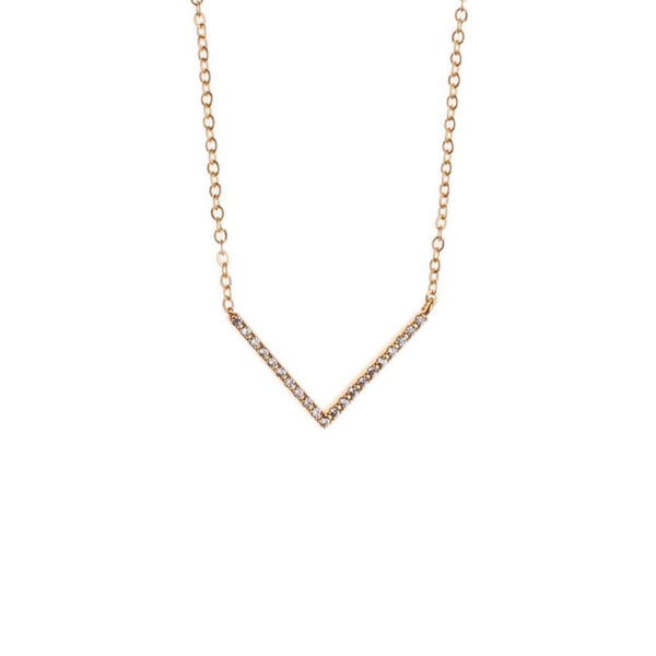Orelia Necklace Gold | Sparkle V Crystal -  Bloomsbury Store