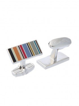 Paul Smith Accessories | Multistripe Cufflinks -  Bloomsbury Store - 1