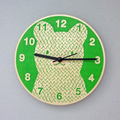 Bear Clock | Green -  Bloomsbury Store