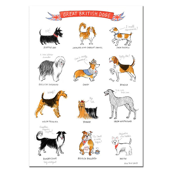 Alice Tait Print | Great British Dogs -  Bloomsbury Store