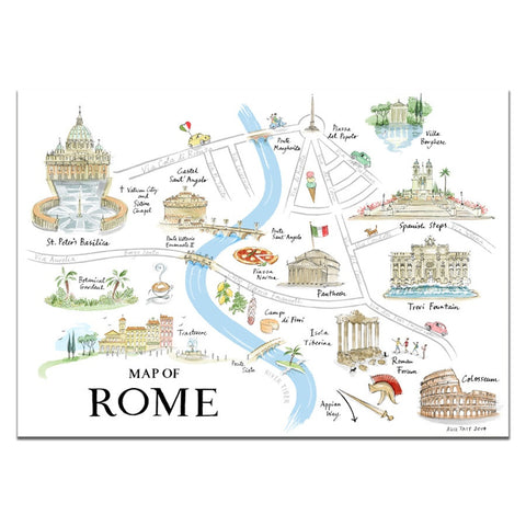 Alice Tait Print | Rome Map -  Bloomsbury Store