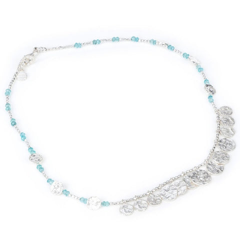 Azuni Silver Cleo Long Necklace | Apatite -  Bloomsbury Store - 1