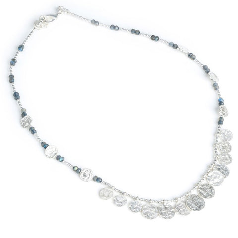 Azuni Silver Cleo Long Necklace | Labradorite -  Bloomsbury Store - 1