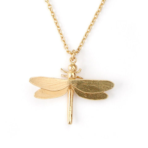 Alex Monroe Dragonfly Necklace | Gold Plated -  Bloomsbury Store