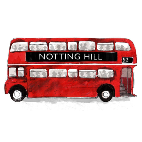 Alice Tait Print | Notting Hill Bus -  Bloomsbury Store
