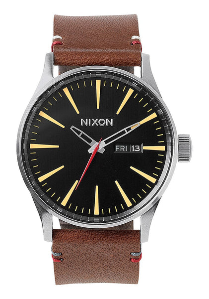 Nixon Sentry Leather | Black / Brown  | Bloomsbury Store - 1