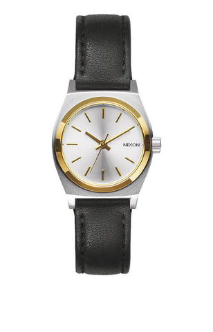 Nixon Small Time Teller Leather | Silver / Gold / Black -  Bloomsbury Store - 1