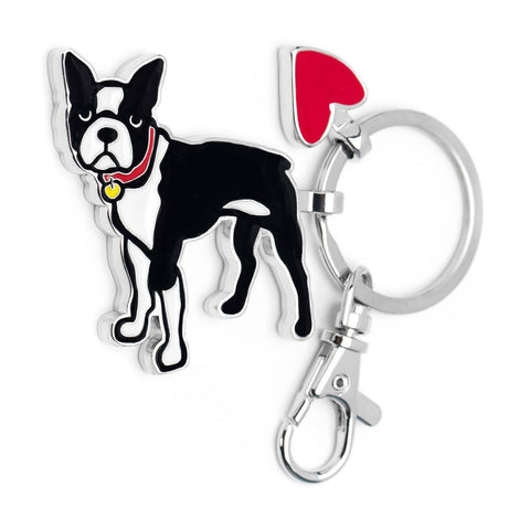 Boston Terrier Keyring | Marc Tetro  | Bloomsbury Store