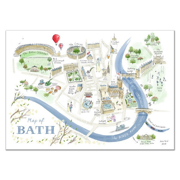 Alice Tait Print | Bath Map -  Bloomsbury Store