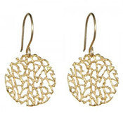 Earrings | Small Coral Disc Gold -  Bloomsbury Store