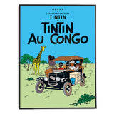 Tintin Poster | Tintin Au Congo (1931) - Framed Bloomsbury Store - 2