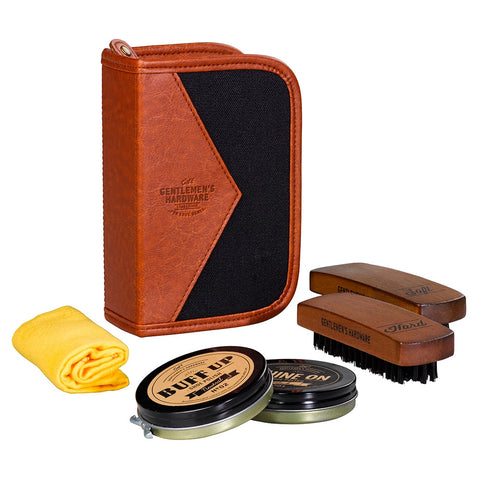 Gentlemen's Hardware Charcoal Shoe Shine Kit | Wild & Wolf -  Bloomsbury Store - 1