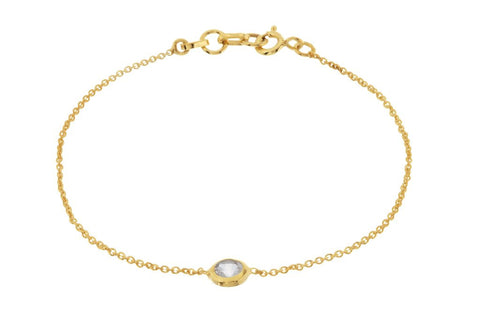 Pomegranate Bracelet Gold Felicity | Crystal  | Bloomsbury Store