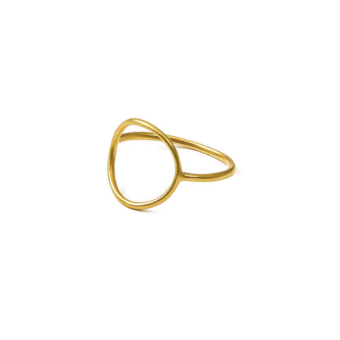 Karma Medium Smooth Ring | Size 6 -  Bloomsbury Store