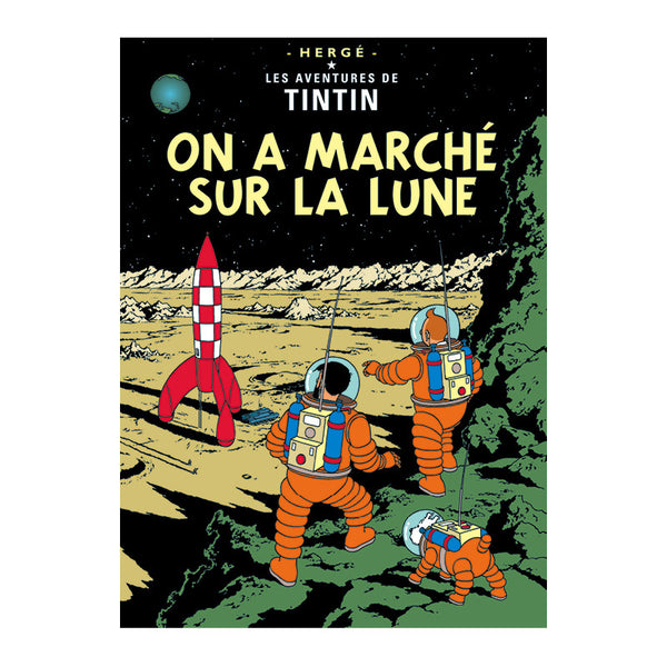 Tintin Poster - Explorers on the Moon (1954) - Unframed Bloomsbury Store - 1