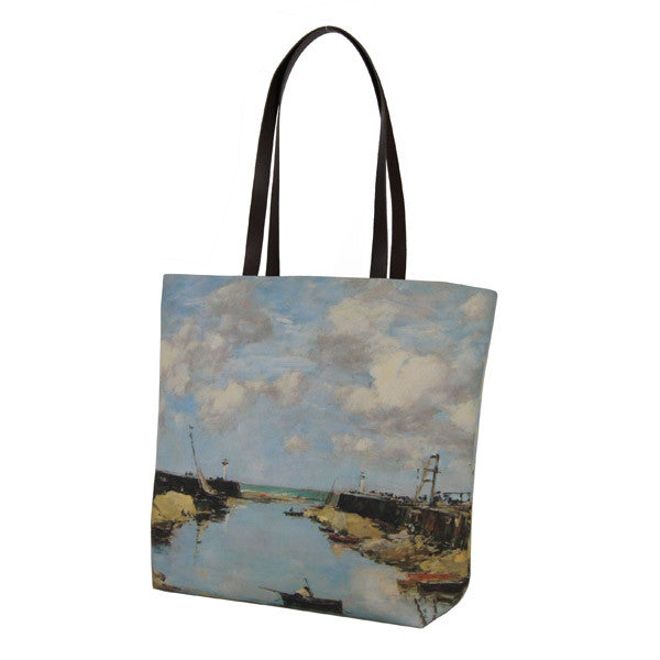 National Gallery Luxury Tote Bag | Entrance to Trouville Harbour by Eugene Boudin -  Bloomsbury Store