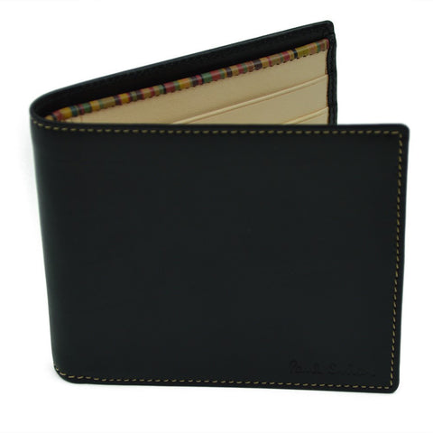 Paul Smith Accessories | Men's Wallet Black with Natural Interior -  Bloomsbury Store - 1