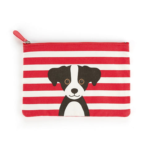 Red Cotton Dog Flat Bag | Catseye  | Bloomsbury Store