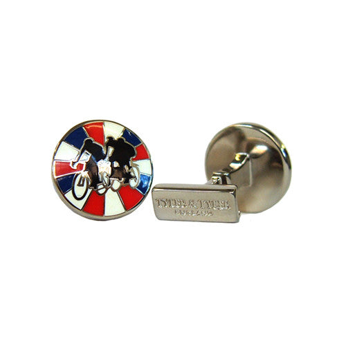 Tyler & Tyler Cufflinks | Racers Red/Blue Burst -  Bloomsbury Store - 1