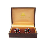 Tyler & Tyler Cufflinks | Racers Red/Blue Burst -  Bloomsbury Store - 2