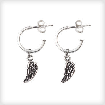 Silver Hoop Earrings | Silver Wing -  Bloomsbury Store