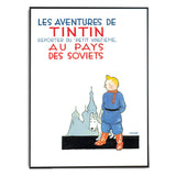 Tintin Poster - In The Land of the Soviets - Framed Bloomsbury Store - 2