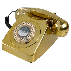 Series 746 Brass Brushed Telephone | Wild and Wolf -  Bloomsbury Store