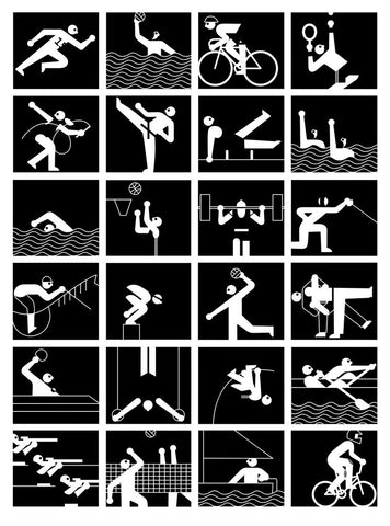 James Graham Print | Sport Pictogram -  Bloomsbury Store