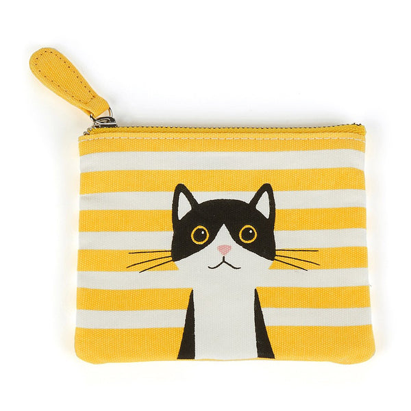 Yellow Cotton Cat Coin Purse | Catseye  | Bloomsbury Store
