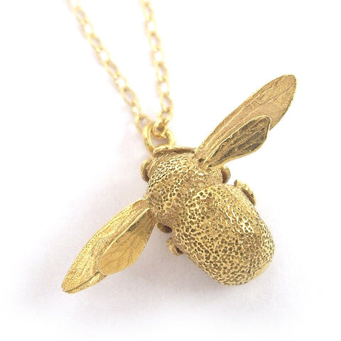 Alex Monroe Bumblebee Necklace | Gold Plated -  Bloomsbury Store