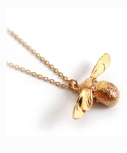 Alex Monroe Necklace | Baby Bee Gold -  Bloomsbury Store - 1