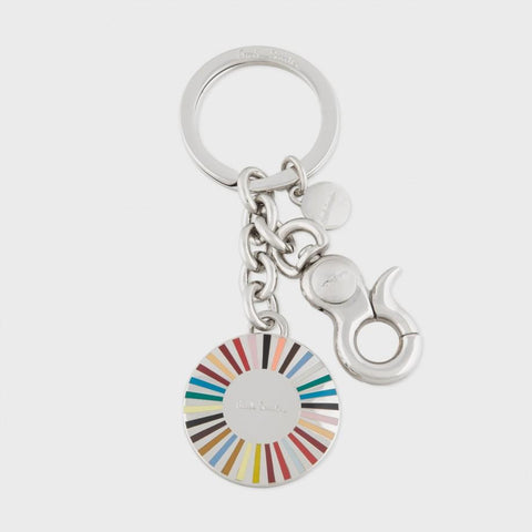 Paul Smith Accessories | Ray Multistripe Keyring -  Bloomsbury Store - 1