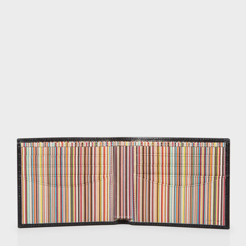 Paul Smith Accessories | Black Leather Multistripe Interior Billfold Wallet -  Bloomsbury Store - 1
