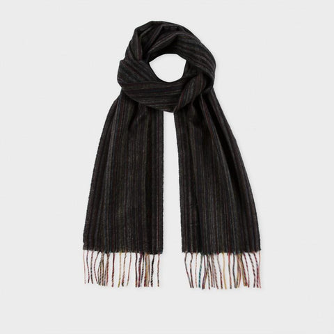 Paul Smith Accessories | Muted Signature Stripe Cashmere Scarf -  Bloomsbury Store - 1