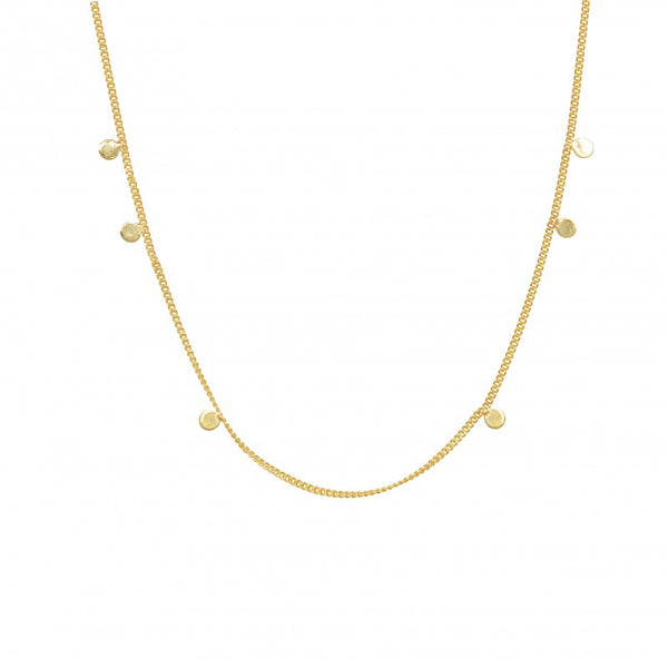 Necklace Asymmetrical Disc | Gold Plated On Silver -  Bloomsbury Store