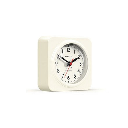 Newgate Alarm Clock | The Biscuit | Gloss Linen White -  Bloomsbury Store