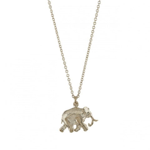 Alex Monroe | Indian Elephant Necklace | Silver  | Bloomsbury Store