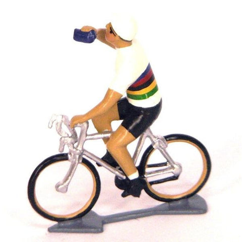 Cycling Figure | Du Monde Jersey Drinking -  Bloomsbury Store