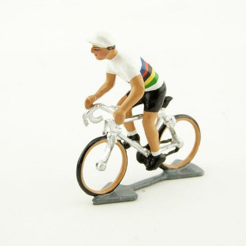 Cycling Figure | Du Monde Jersey Standing On Pedals -  Bloomsbury Store