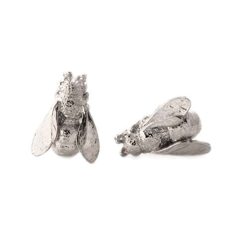Alex Monroe | Honeybee Stud Earrings | Silver  | Bloomsbury Store