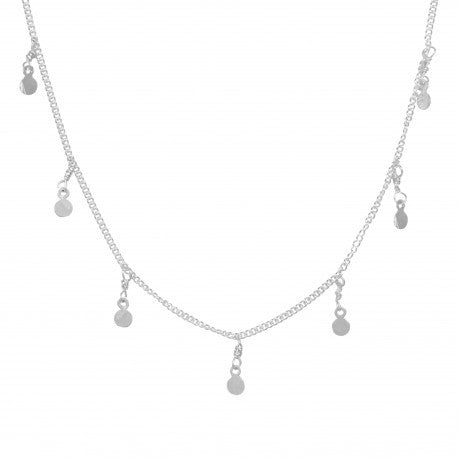 Necklace Disc | Sterling Silver -  Bloomsbury Store