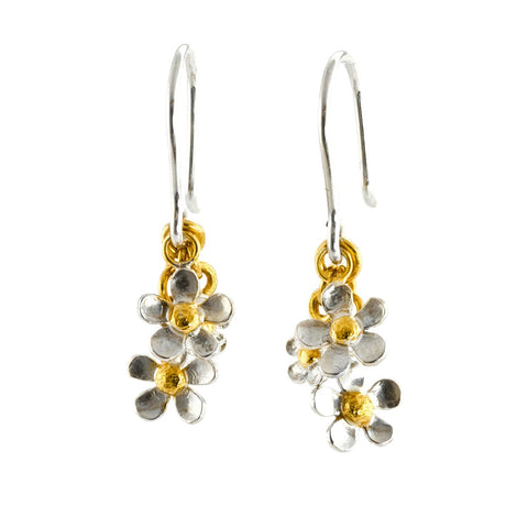 Alex Monroe Posy Cluster Gold and Silver Earrings -  Bloomsbury Store