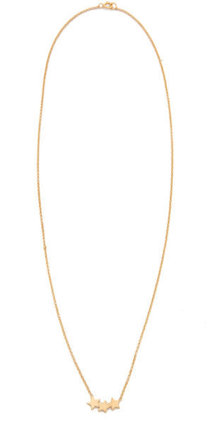 Dogeared Necklace Gold Three Wishes  | Bloomsbury Store - 1