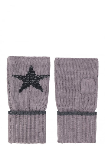 Ember Star Fingerless Wool Gloves Quail | Bloomsbury Store - 1